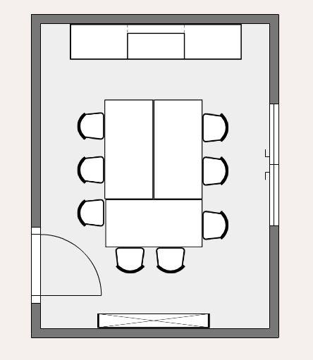 Raumplan eines Meeting-Raum